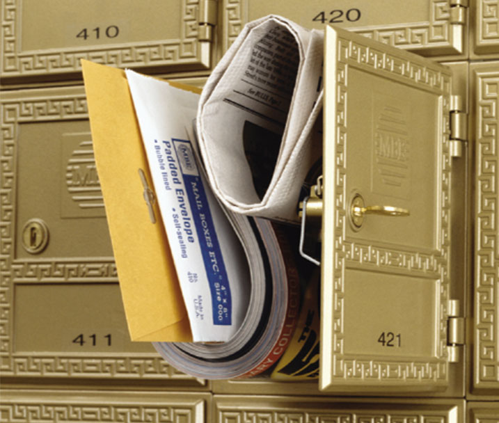 Mailbox rental, virtual office address company registered