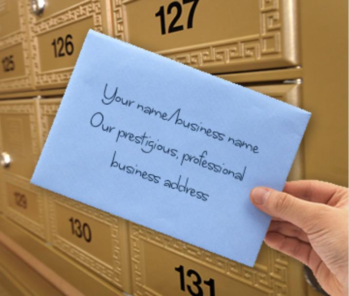 mailbox rental virtual office address company registered address
