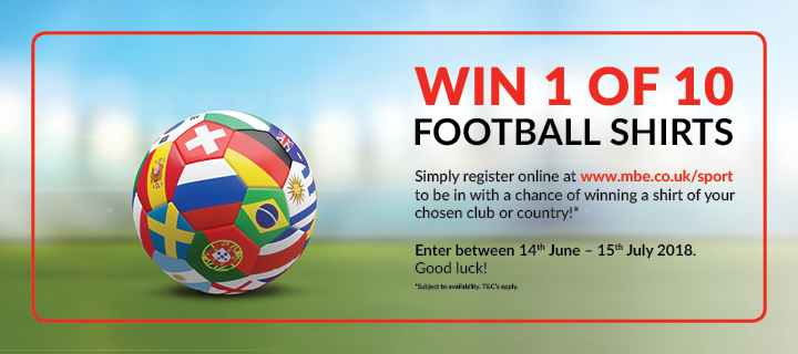 Win 1 of 10 Football Shirts
