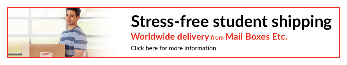 Stress-free student shipping worldwide